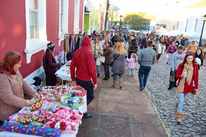 O Brique da Vila Belga em sua 8ª edição, no dia 05 de julho de 2015: interação e livre mercado em Santa Maria - RS. Créditos: Gabriel Haesbaert / A Razão